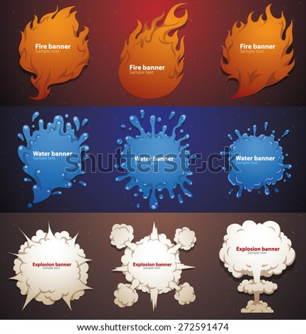 Set of Banners. vector - stock vector