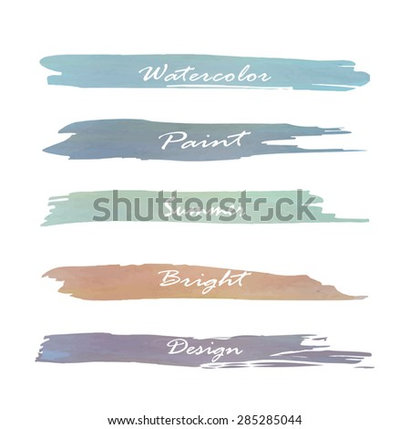 Set of banners. Vector illustration.blue green brown violet purple tone color.Love vintage logo - stock vector