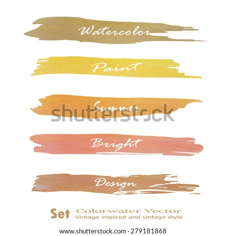 Set of banners. Vector illustration.yellow brown pink tone violet color.Vintage logo - stock vector
