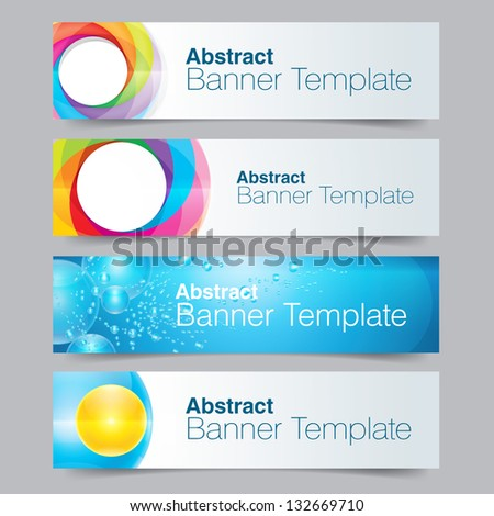 Set of banners with Abstract symbols - stock vector