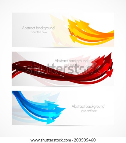 Set of banners with arrows - stock vector