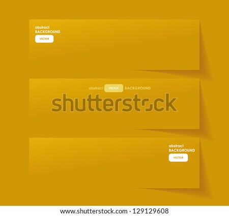 Set of Banners with different Shadows - stock vector
