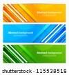 Set of banners with lines - stock vector