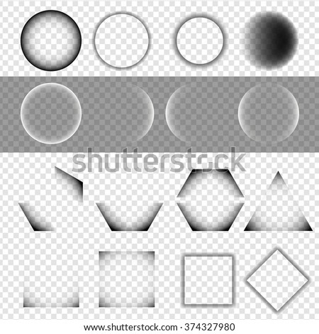 Set of Basic Geometric Shapes with Shadow on Isolated Background - EPS10 Vector Illustration - stock vector
