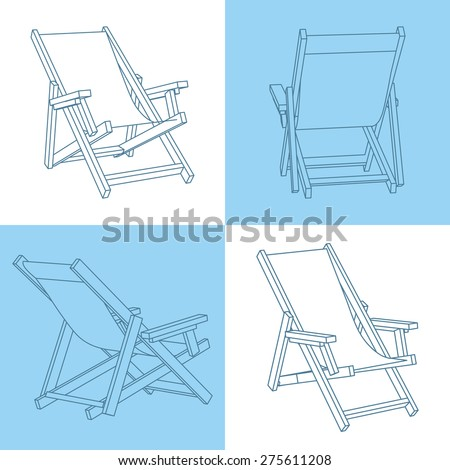 Set Of Beach Chairs