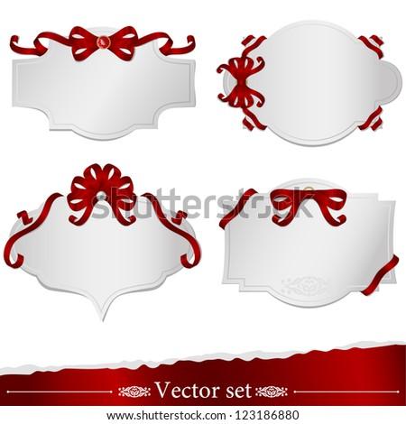 set of beautiful frames, stickers design postcards, Web sites, design - stock vector