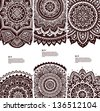 Set of Beautiful vintage ornate banners can be used as a greeting card - stock vector