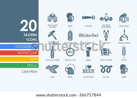 Set of beer icons - stock vector