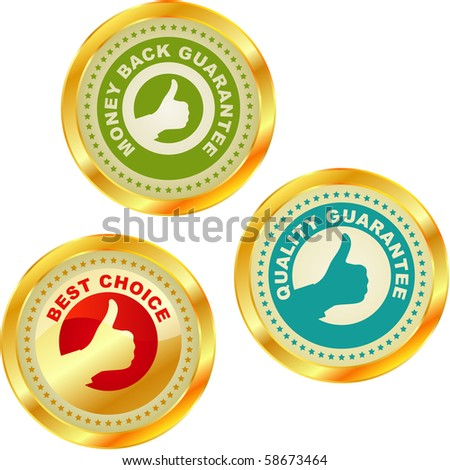 Set of best choice labels. Vector set. - stock vector