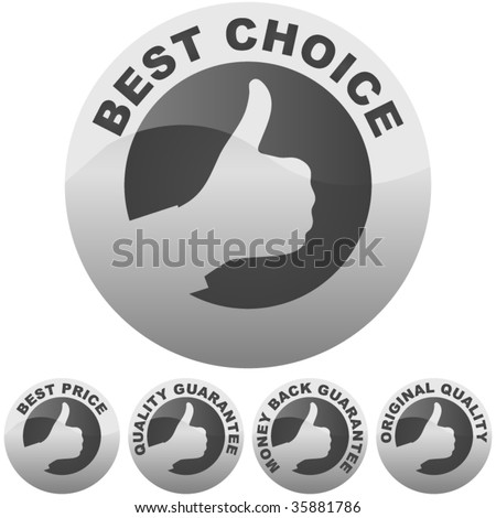 Set of best price and quality guaranteed seals. - stock vector
