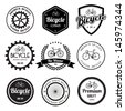 Set of  bicycle retro vintage badges and labels.eps10  - stock vector