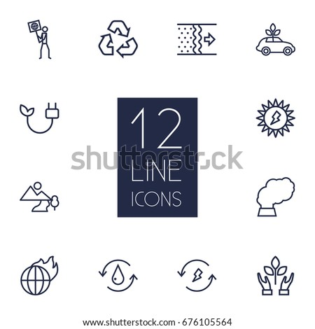 Isolated Suv Outline Symbol On Clean Stock Vector