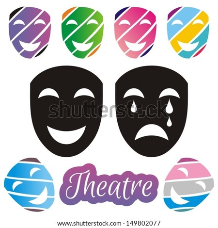 Tragedy And Comedy Masks Stock Images, Royalty-Free Images ...