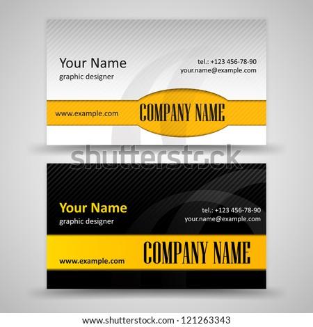 Set black orange business cards stock vector 2018 121263343 set of black and orange business cards colourmoves