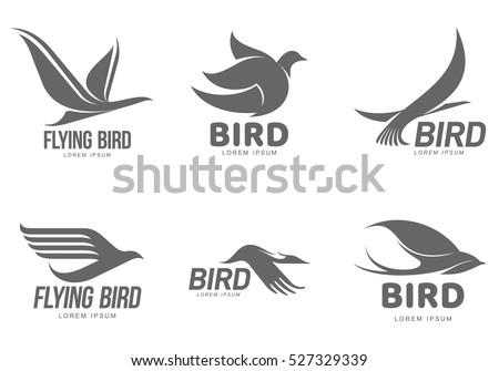 Set Black White Stylized Logo Templates Stock Vector HD (Royalty ...