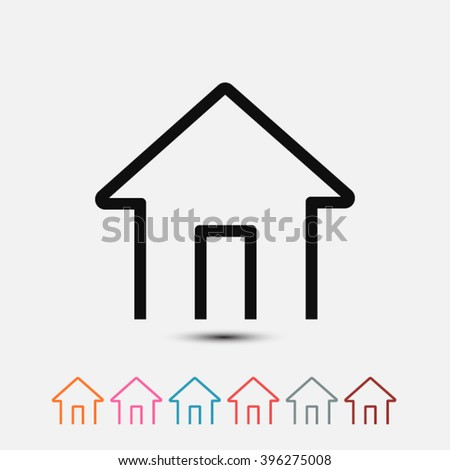 Set of: black House vector icon