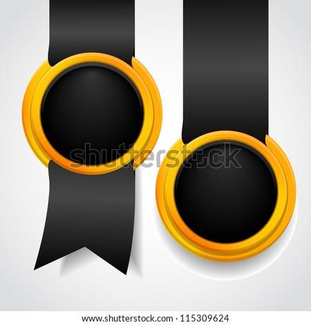 Set of black label. Vector illustration - stock vector