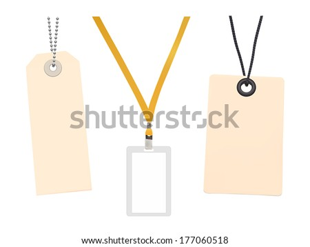 Set of Blank badge and Blank price tags. Vector illustration - stock vector