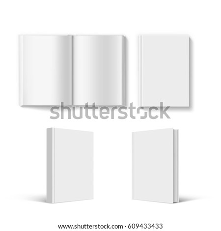 Paperback stock images royalty free images vectors shutterstock set of blank book cover template isolated on white background stock vector illustration pronofoot35fo Images