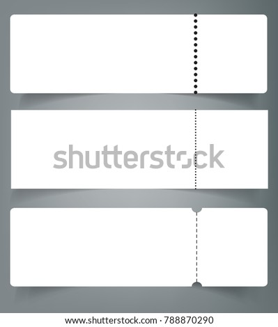 Set Of Blank Event Concert Ticket Mockup Template. Concert, Party Or  Festival Ticket Design  Blank Concert Ticket Template