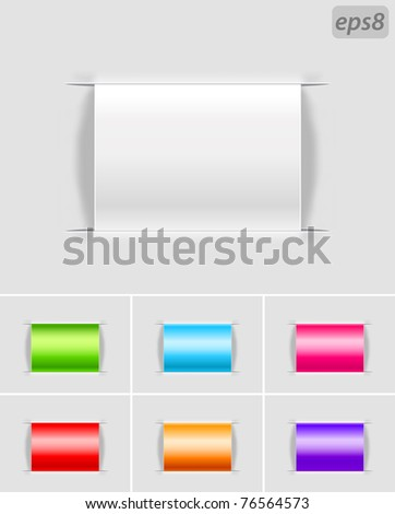 set of blank labels - stock vector