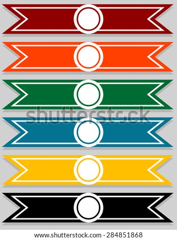 Set of Blank Pointer Infographics - stock vector