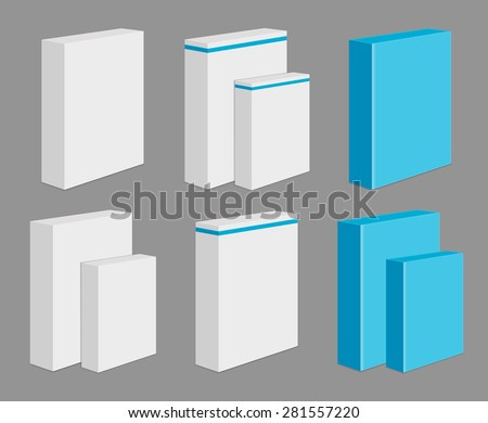 Set of Blank Product Boxes - stock vector