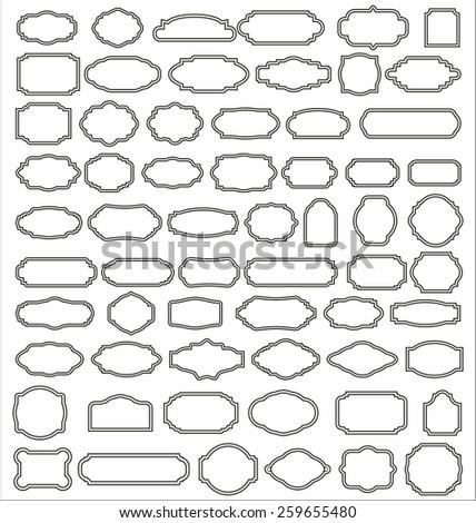Set of blank retro vintage badges  - stock vector