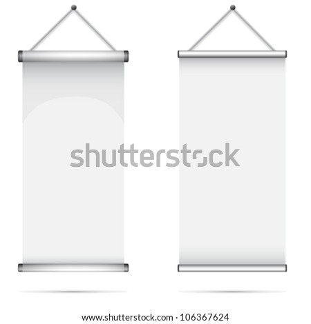 Set of Blank roll up poster - stock vector