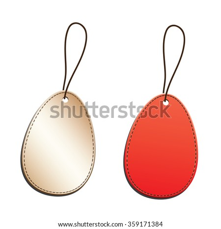 Set of blank tags - stock vector