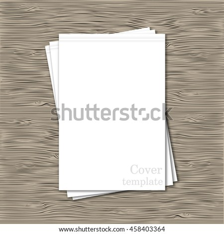Set of blank template vertical white cover notebook - stock vector