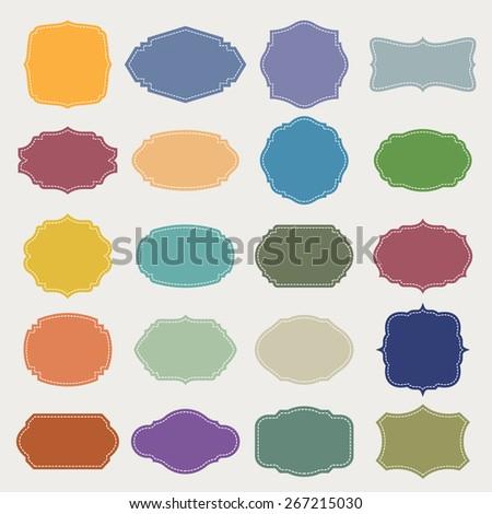 Set of  blank vintage frame . Illustration eps10 - stock vector