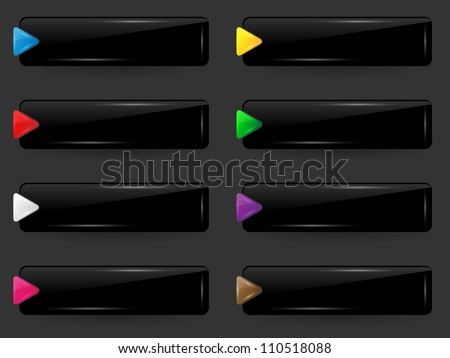Set of blank web buttons. Vector illustration.