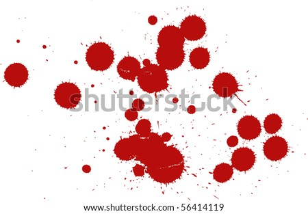 Set of blood drops
