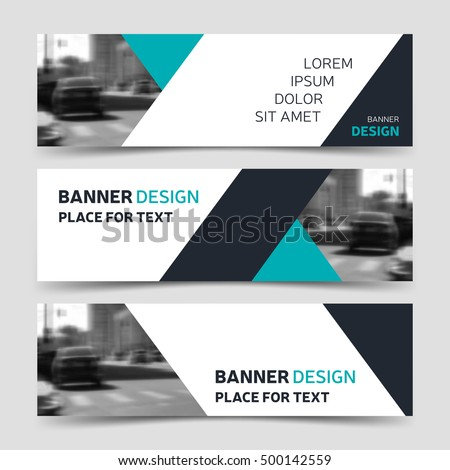 Set blue horizontal business banner templates stock vector 500142559 set of blue horizontal business banner templates vector banner corporate identity modern banner design wajeb Gallery