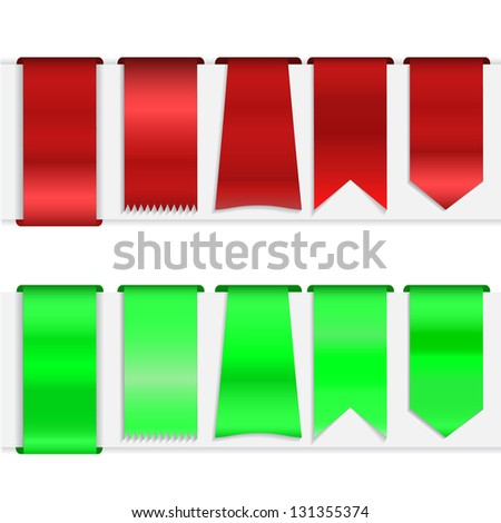 Set of bookmarks (banners, tags, ribbons, label) for your design or web site - stock vector