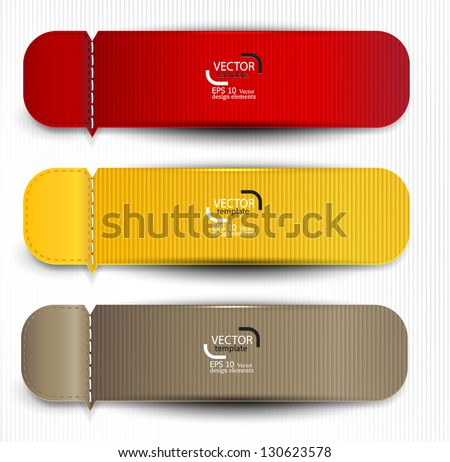 Set of bookmarks, stickers, labels, tags. Vector template