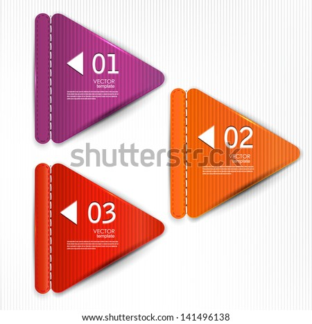 Set of bookmarks, stickers, labels, tags. Vector template for infographics - stock vector