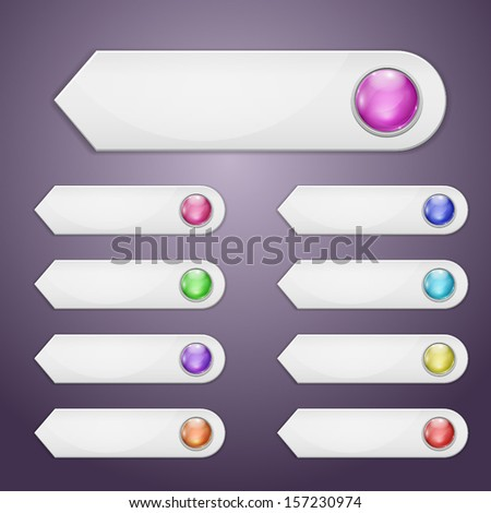 Set of bookmarks with multicolored spheres