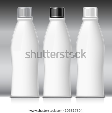 Set of bottles - stock vector