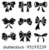 Set of bow	 - stock vector