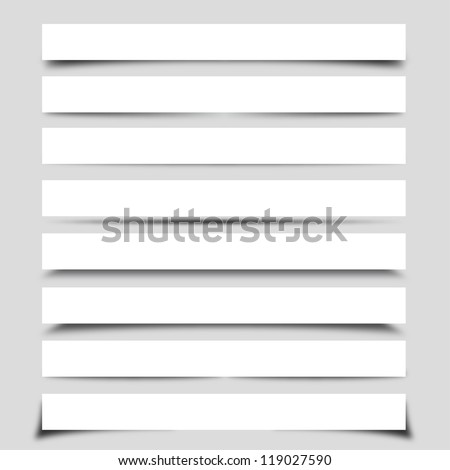 Set of Box Shadows - stock vector