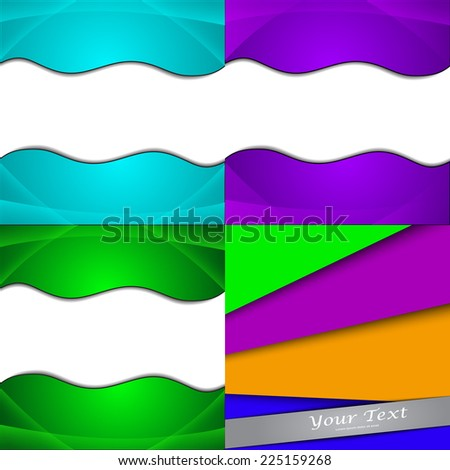 Set of bright abstract backgrounds. Design eps 10. Vector illustration - stock vector
