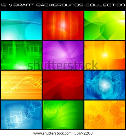 Set of bright abstract backgrounds. Vector design eps 10 - stock vector