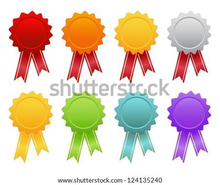 set of bright emblems - stock vector