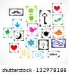 Set of bright grunge rubber stamps for your design. Vector illustration - stock vector