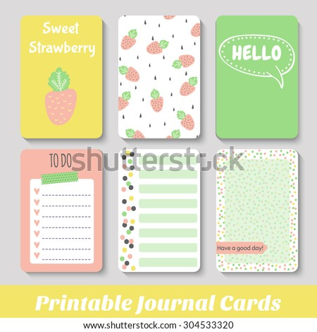 Set of bright hand-drawn cards fruit. Lovely summer design. Template for scrapbooking, wrapping, congratulations, invitations, printable card. Vector - stock vector
