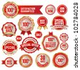 Set of business badges and stickers - stock vector