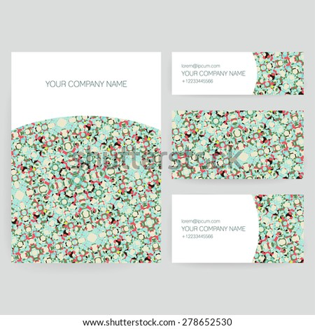 Set of business card and invitation card templates. Vector design. - stock vector
