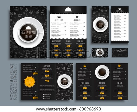 Set business cards a 4 menu folding stock vector royalty free set of business cards and a4 menu folding brochures and flyers size 210x99 mm for reheart Choice Image